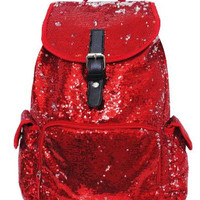 BLING Red Sequin Backpack FREE Personalziation Dance Bag Cheer Bag Book Bag Overnight School Bag Swim Sports Birthday Flower Girl Youth