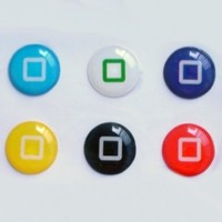 niceEshop 6pcs New Style Bottons Designs Home Button Stickers for iPad ipod iphone