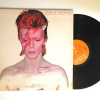 FALL SALE David Bowie Aladdin Sane LP Album 1973 Let's Spend The Night Together The Jean Genie Vinyl Record