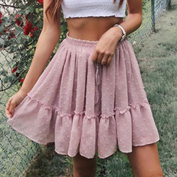 New small flower short skirt women's ruffled small fresh skirt