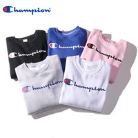 Champion Men and Women Print Logo Tops Sweater Sweatshirts