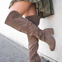 Joplin Knee High Boots (Taupe)