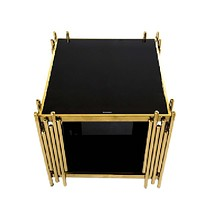 Modern Stylish Stainless Steel Coffee Table with Glass Top
