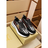 BURBDRR  Men Fashion Boots fashionable Casual leather Breathable Sneakers Running Shoes08020qh