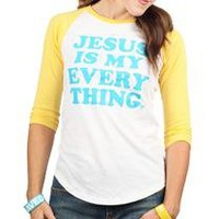 Jesus Is My Everything Raglan Jr | T-Shirt | Mardel