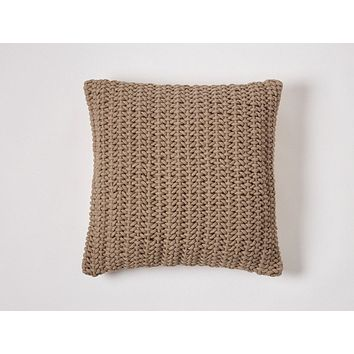 Taupe Woven Rope Decorative Pillow by Coyuchi