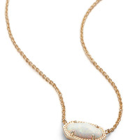 Kendra Scott Elisa White Kyocera Opal Gold Necklace