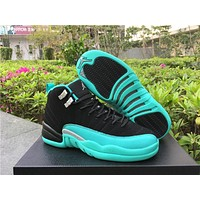 Air Jordan 12 GS ¡°Hyper Jade¡± AJ 12 Men Women Basketball Shoes-1