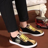 VERSACE men's shoes new embroidery shoes casual shoes