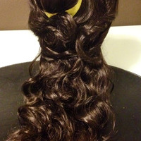 belle beauty and the beast wig