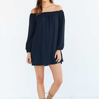 Ecote Off-The-Shoulder Swing Dress - Urban Outfitters