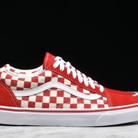 """HCXX OLD SKOOL """"PRIMARY CHECK"""" - RACING RED"""