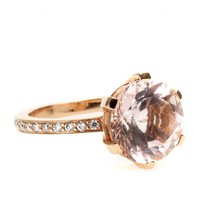 18kt Pink Gold Zaza Ring With Faceted Morganite And White Diamonds  ☼ Cada ✽ mytheresa