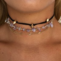 Rocky Road Choker Set in Black