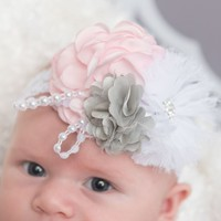 Light pink baby headband