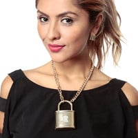 Love Lock Down Necklace Set