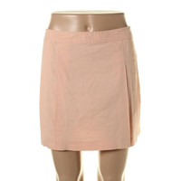 Theory Womens Vince Linen Pleated A-Line Skirt