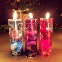 1Pcs New Aromatherapy Smokeless candles Ocean shells jelly Aromatherapy essential oil Wedding candles romantic scented candles