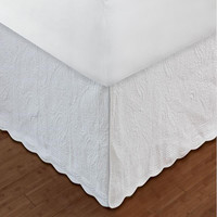 """Greenland Home Paisley Bed Skirt, Twin, Full, Queen Or King 18"""", Quilted"""