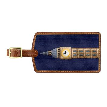 Big Ben Needlepoint Luggage Tag by Smathers & Branson
