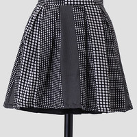 Double Exposure Polka Dot Skirt