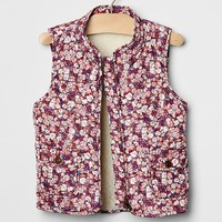 Gap Baby Floral Quilted Vest