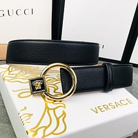 Versace Fashion New Human Head Buckle Women Men Belt