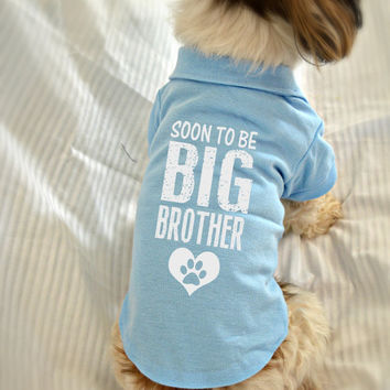 Small Dog Polo Shirt. Soon to Be Big Brother Polo Dog Shirt. Pet Clothes. New Baby Gift Idea.