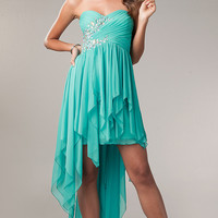 My Michelle High Low Strapless Prom Dress