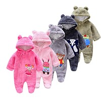 Long sleeve baby Rompers Jumpsuits Fleece Baby Girl infant romper newborn Clothes