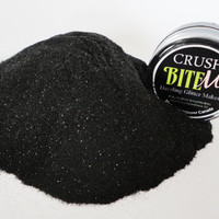 Bite Me Makeup  Glitter EyeShadow  5g Jar Eye SHadow Petitie Size Black