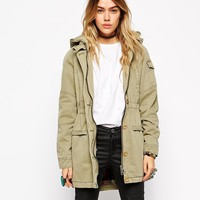 ASOS Parka in Washed Cotton