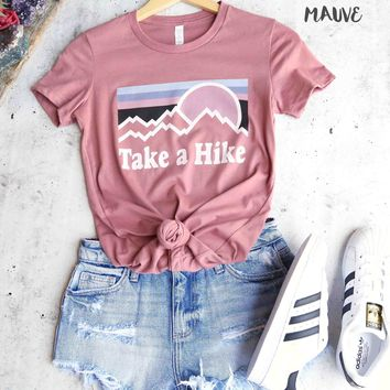 distracted - take a hike women's favorite fitted cotton tee - more colors