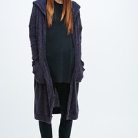 Sparkle & Fade Soft Maxi Cardigan in Purple - Urban Outfitters