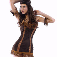 Indian Halter Backless and Fringed Bodycon Mini Dress