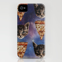 Kitten Pizza Galaxy iPhone & iPod Case by Beth Zimmerman Illustration