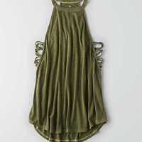 AEO Lace-Up Swing Tank , Olive
