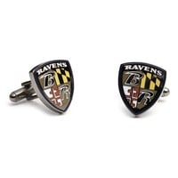 Baltimore Ravens Cuff Links (Black)