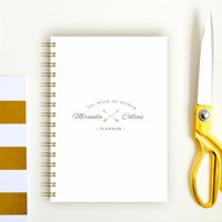 Bridesmaid - Maid of Honor - Wedding Planner - Notebook A5 - Bachelorette - Best Man Planner