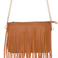 Fringe Me Up Purse - Tan