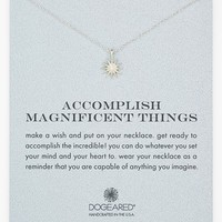 Women's Dogeared 'Accomplish Magnificent Things' Boxed Pendant Necklace