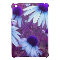 Blue N Purple Coneflower Echinacea iPad Mini Case from Zazzle.com