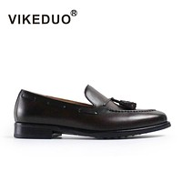 Handmade Genuine Leather Shoe Fashion Casual Luxury Wedding Party Dress Shoes Original Design Men's Loafer Shoes