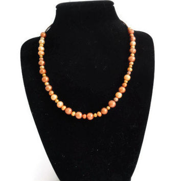 Earth Toned Fresh Water Potato Pearl Necklace, Prom Necklace, Mother's Day Gift