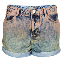 MOTO Dip Dye Peach Hotpants - Back In Stock - New In - Topshop USA