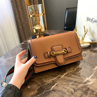 GUCCI Leather Mini Crossbody Shoulder Bag