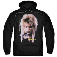 LABYRINTH/GOBLIN KING-ADULT PULL-OVER HOODIE-BLACK