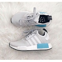 """ADIDAS"" Women Running Sport Casual NMD Shoes Sneakers Blue"