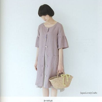 Easy & All Year Round Cover-up Patterns, Yoshiko Tsukiori, Japanese Sewing Tutorial, Women Clothing, Mantle, Cape, Poncho, Coat Dress, B942