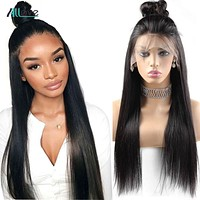 Straight Lace Front Human Hair Wigs 13x4 Lace Front Wigs Remy Brazilian 250 Density